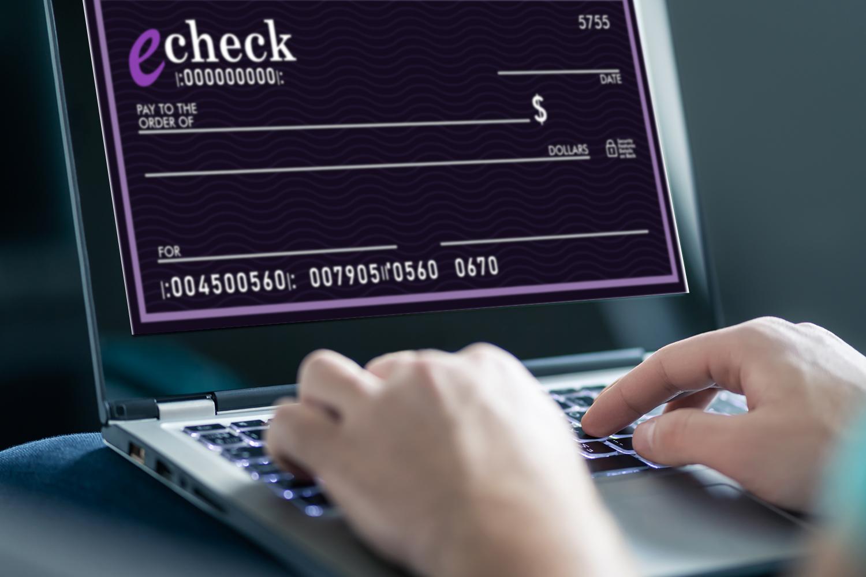 echecks, echeck payment solutons